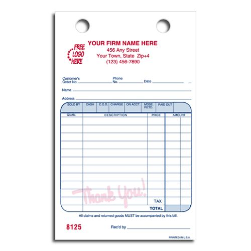 Cash and Carry Register Forms
