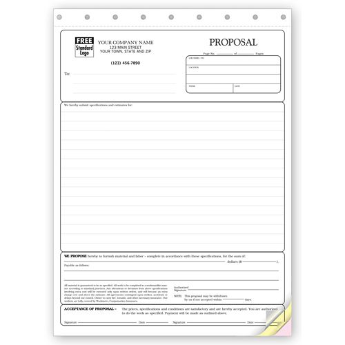 Stationary Quality Proposal Forms