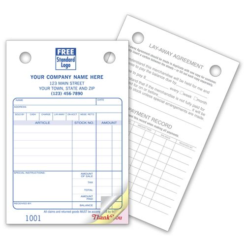 Jewelry Register Invoice Forms