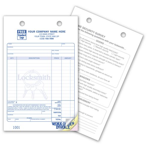 Locksmith Register Order Forms