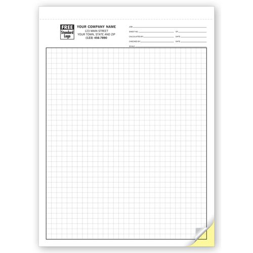 Carbonless Engineering Graph Paper 1 4 Inch 7205 At