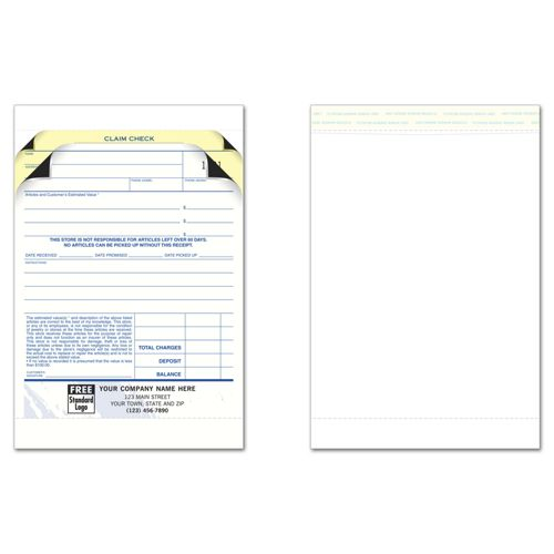 Jewelry Repair Order Forms with Envelope