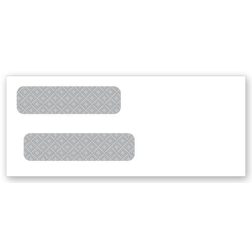 Lined Double Window Security Envelopes