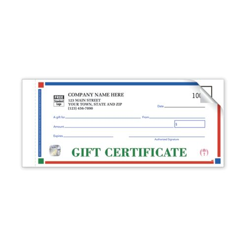 Simple individual gift certificate with Duplicate